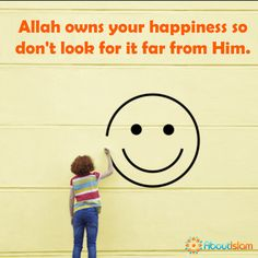 Don't look for happiness far from Allah. ☺  #Happiness #Islam #Faith