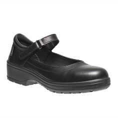 Parade Darine Ladies S1 SRC Smart Black Leather Safety Court Style Shoes
