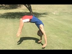 How to Teach Yourself to do a Back Handspring in 3 Minutes - YouTube