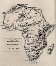 K.NOWAK AFRICA 1931-32 MAP