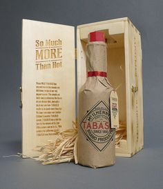 Tabasco (Limited Edition) Packaging Design by Cody Petts, via Behance