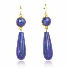Regenz Afghan Lapis Lazuli Art Deco Style Earrings Brand New Lapis Lazuli Earrings, Art Journal Techniques, Dream Catcher Boho, Art Deco Earrings, Art Deco Fashion, Stone Jewelry, Sterling Silver Jewelry, Jewelry Design, Jewels