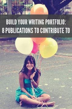 Build Your Writing Portfolio: http://bit.ly/Ic8Dw2