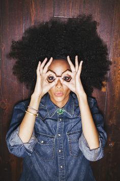 afro | look | denim | cute | www.republicofyou.com.au  ~LOVE this hair. If only.
