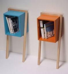 Great #bookshelf idea. This sort of reminds me of MOMA.