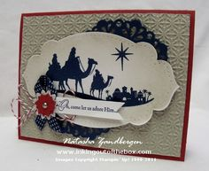 Christmas card class project by Natasha Zandbergen - Cards and Paper Crafts at Splitcoaststampers