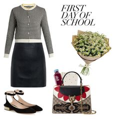 """""""School day"""" by anduu19 on Polyvore featuring Miu Miu, McQ by Alexander McQueen, Nicholas Kirkwood, Sugar Paper and Gucci"""