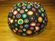 Multi Colored Circle Bean Bag Chair Cover by CopperBugCompany, $55.00