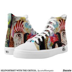 SELFPORTRAIT WITH THE CRITICAL EYE PRINTED SHOES Printed Shoes, Custom Sneakers, More Cute, Top Shoes, Converse Chuck Taylor, High Tops, My Design, High Top Sneakers, Pairs