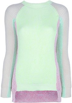 Stella Mccartney White Knit Tricolour Sweater