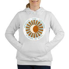 Faux vintage logo 'Apollo & Artemis School of Hunt' Women's Hooded Sweatshirt from cafepress store: AG Painted Brush T-Shirts. #vintage #Apollo #Artemis