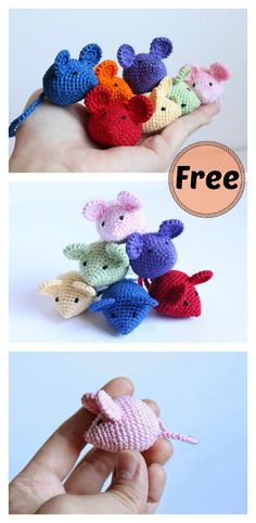 Crochet Amigurumi Dolls Tiny Crochet Mouse Free Pattern - How cute are these crochet mice! They would be a nice home decoration. Check out a few Free Mini Mouse Crochet Patterns we have collected for you! Chat Crochet, Crochet Cat Toys, Crochet Mouse, Diy Crochet Gifts, Easy Crochet Animals, Crochet Geek, Crochet Keychain Pattern, Crochet Cardigan Pattern, Crochet Doll Tutorial