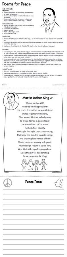 Martin Luther King Day On Pinterest Activities Picture
