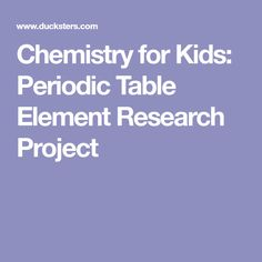 Periodic table multiple choice yahoo search results yahoo image chemistry for kids periodic table element research project proyectos de investigacintabla peridicanios aprendiendo urtaz Gallery