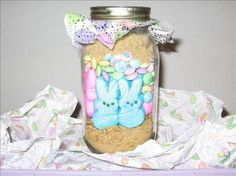 Easter Bunny Smores Jars