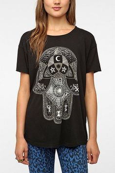Truly Madly Deeply Palm Of Darkness Tee - Urban Outfitters