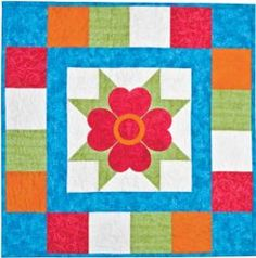 Geranium Table Topper #quilt #pattern from AccuQuilt