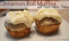 The Diary of a Real Housewife: Cinnamon Roll Muffins with Cream Cheese Frosting