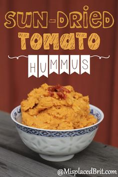 Favorite Sun-Dried Tomato & Parmesan Hummus - A delicious flavorful side dish for a perfect BBQ