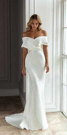 Elegant Wedding Dress, Bridal Wedding Dresses, Dream Wedding Dresses, Designer Wedding Dresses, Wedding Cakes, Wedding Rings, Timeless Wedding Dresses, Casual Wedding Dresses, Bardot Wedding Dress