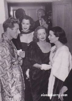 """deborahkerrsdaughter: """" freak4vintage: """" Vivien Leigh and Bette Davis I repeat it's VIVIEN LEIGH AND BETTE DAVIS TOGETHER! """" Don't forget my lovely Danny Kaye! """""""
