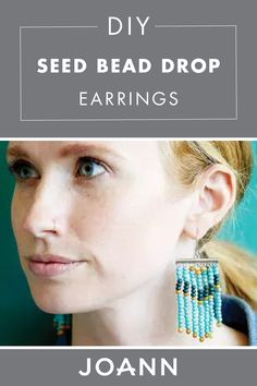 Add a boho piece to your jewelry box with this DIY Seed Bead Drop Earrings from JOANN! You can customize this easy craft with your favorite color of seed beads, and voila you have a beautiful new pair of earrings!