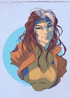 Rogue Illustrated Portrait by Dave Rapoza — GeekTyrant