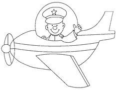 Liltte Pilot On Jobs Coloring Pages