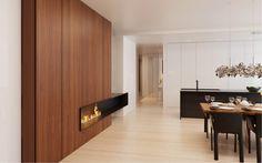 Apartment in Novgorod by Alexandra Fedorova 03 - MyHouseIdea Gas Fireplace, Fireplaces, Apartment Interior, Beautiful Interiors, Dining Room, House Design, Contemporary, Interior Design, Architecture
