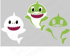 Shark Cutout Files for Cricut SVG and Silhouette Studio File Shark Birthday Cakes, 1st Boy Birthday, Boy Birthday Parties, Baby Hai, Shark Family, Shark Party, Cricut Creations, Silhouette Studio, Etsy