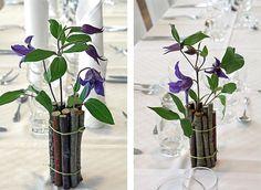 http://holmsundsblommor.blogspot.se/2012/05/bla-bordsdekoration.html Bordsdekoration