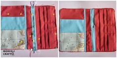 Manualicraft - Costura creativa: Funda portadocumentos de viaje. Tutorial Diaper Bag, Diy, Ideas, Scrappy Quilts, Wallets, Tejidos, Fabric Wallet, Drawn Thread, Tack Board