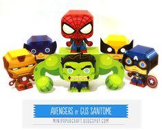 Papercraft Avengers