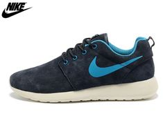 los angeles 0510e 413ac 2013 Mens Nike Roshe One Low Anti Fur Waterproof Running Shoes Coal Black  Gray Blue,Nike-Nike Roshe One Shoes Sale Online