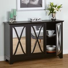 Simple Living Reflections Black Buffet/ Console - Free Shipping Today - Overstock.com - 16853149 - Mobile