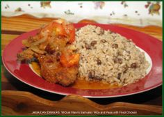 Rice and Peas with Chicken http://jamaicandinners.com/
