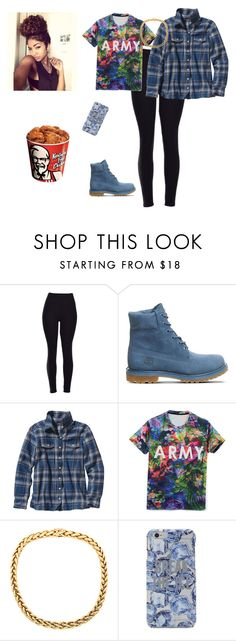 """""""Nahh"""" by dopeoufits245 ❤ liked on Polyvore featuring Timberland, Patagonia and Kate Spade"""