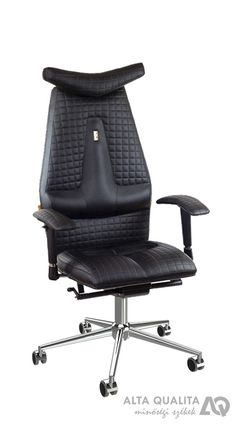 Wave Ergonomic Leather Chair With Headrest Chairs