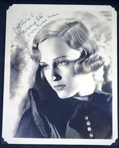 Madge Evans Early Original SIGNED and Inscribed 8 by 10 Fan Portrait Photo | eBay