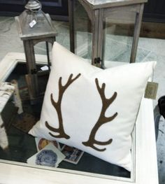 100% wool antler pillow by FashionToCountry on Etsy