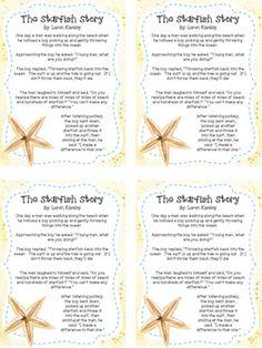 Image result for free printable starfish story | volunteer ...