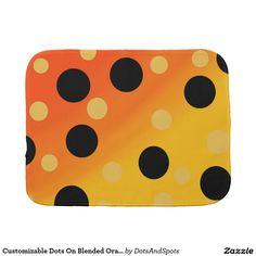 Customizable Dots On Blended OrangeToYellow Burp Cloth