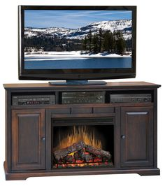 "Brentwood 64"" Tv Stand With Electric Fireplace"