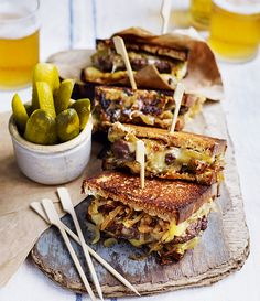 Debbie Major's American-inspired recipe for a cheese-toastie-hamburger-hybrid is the ultimate lunchtime treat. Veggie Recipes, Cooking Recipes, Diner Recipes, Veggie Food, Lunch Recipes, Food Food, Vegetarian Recipes, Sandwiches, Patty Melt Recipe
