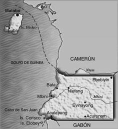mapa guinea-ecuatorial