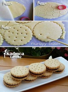 - Kadınca Tarifler - Lezzetli, Pratik ve En Nefis Yemek Tarifleri Sitesi - galletas - Las recetas más prácticas y fáciles Cookies Et Biscuits, Cake Cookies, Sugar Cookies, Cookie Recipes, Dessert Recipes, Meal Recipes, Best Pie, Flaky Pastry, Mince Pies