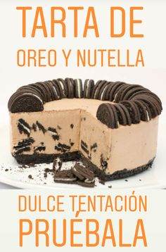 Oreo and Nutella cake . Sweet temptation you have to try - This recipe is delicious because there you combine all the flavor and creaminess of Nutella with th - Coslaw Recipes, Easy Potato Recipes, Easy Salad Recipes, Cheesecake Cake, Oreo Cake, Delicious Desserts, Yummy Food, Nutella Cake, Chocolate
