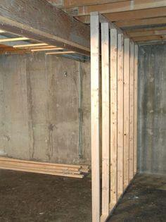 11 best framing basement walls images basement finishing framing rh pinterest com  building stud wall in basement