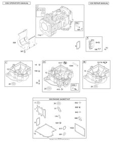 Briggs and Stratton 310707-0137-E1 Parts Diagram for
