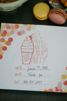 ice cream party invi